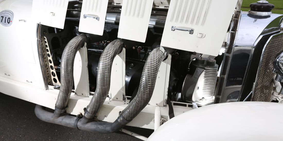 Mercedes 27/180/250 Typ 710 SS, Sidepipes