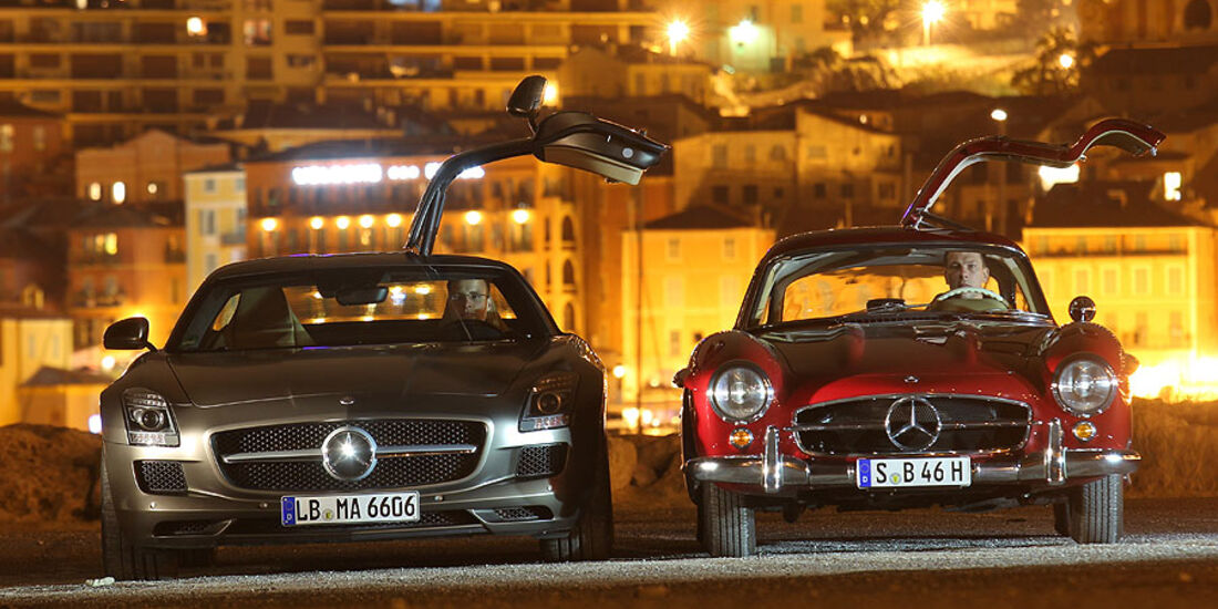 Mercedes 300 SL und SLS AMG