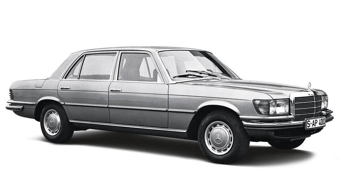 Mercedes 350 SE, Seitenansicht