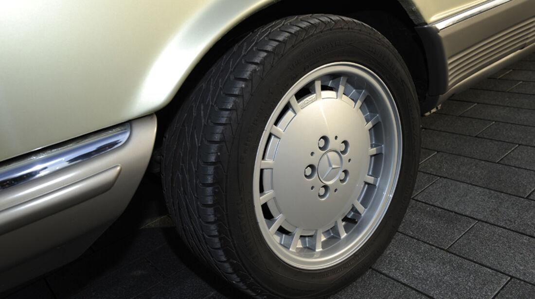 Mercedes 500 SEC, Rad, Felge
