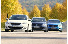 Mercedes A 180 CDI, Peugeot 308 e-HDi 115, VW Golf 1.6 Blue TDI,