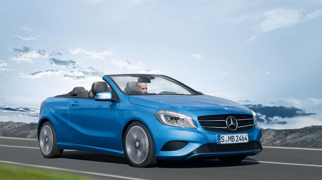 Mercedes A-Klasse Cabrio, Seitenansicht