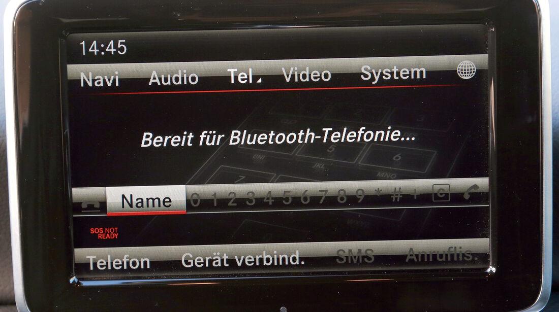 Mercedes A-Klasse, Display, Bluetooth