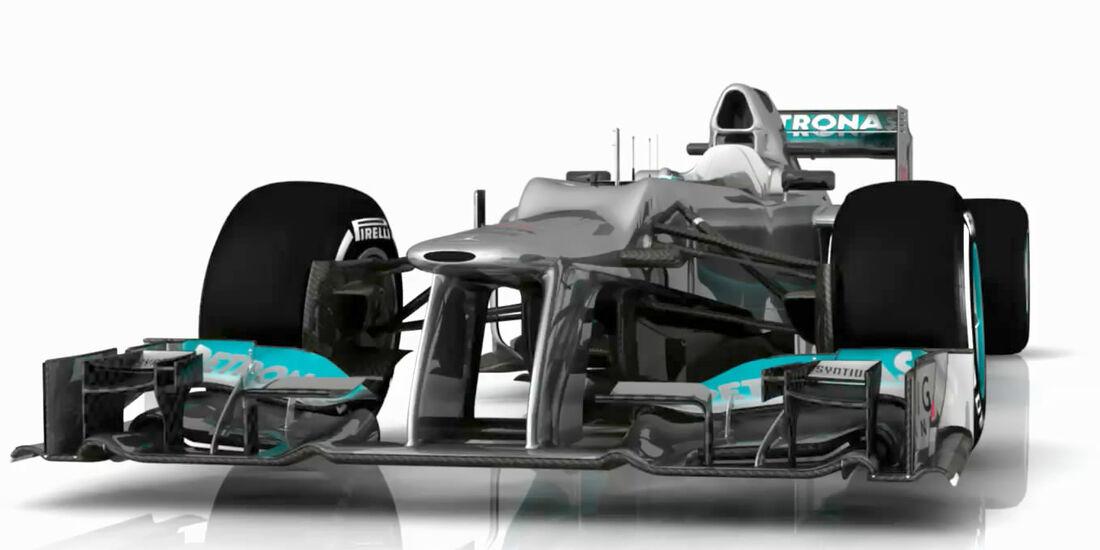 Mercedes AMG F1 W03 Updates Piola Technik