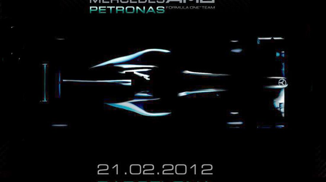 Mercedes AMG W03 Teaser 2012