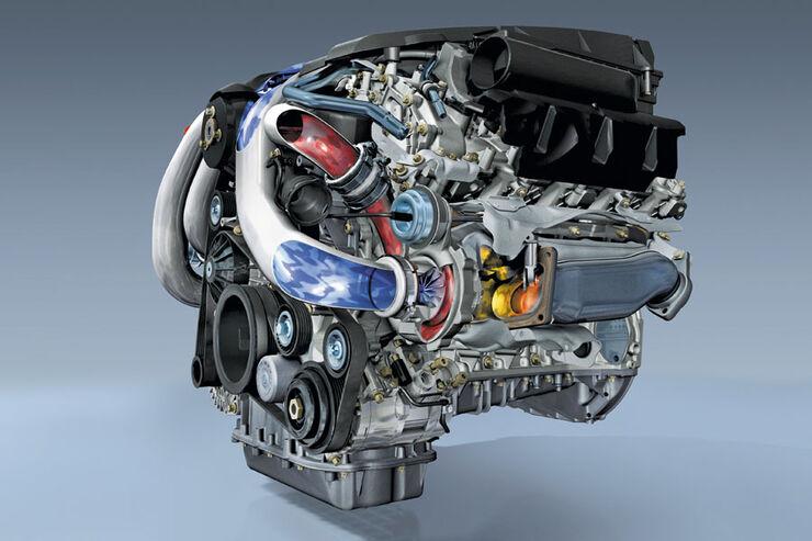 Mercedes Achtzylinder-Motor