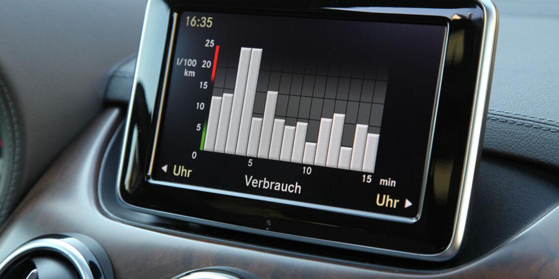 Mercedes B-Klasse, Display