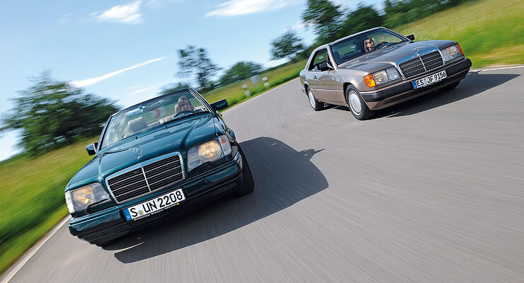Mercedes Baureihe 124 - Coupé (C124) und Cabriolet (A124)