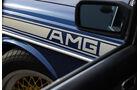 Mercedes- Benz 280 E AMG, Detail, Seitenspiegel, AMG Logo