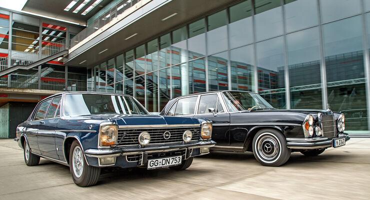 v8 limousinen der 70er mercedes 300 sel opel diplomat. Black Bedroom Furniture Sets. Home Design Ideas