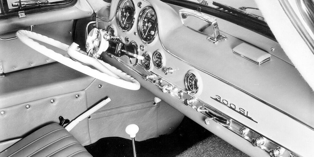 Mercedes-Benz 300 SL - Lenkrad - Innenraum - Klappvorrichtung