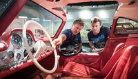 Mercedes-Benz 300 SL - Lenkrad - Innenraum  - Mercedes-Museum
