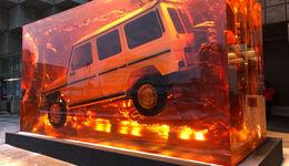 Mercedes-Benz G-Klasse Block Harz eingegossen Bernstein