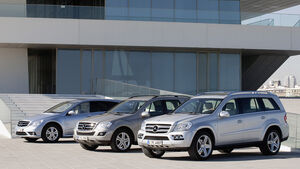 Mercedes Benz M-Klasse BlueTec, Mercedes Benz R-Klasse BlueTec, Mercedes Benz GL BlueTec
