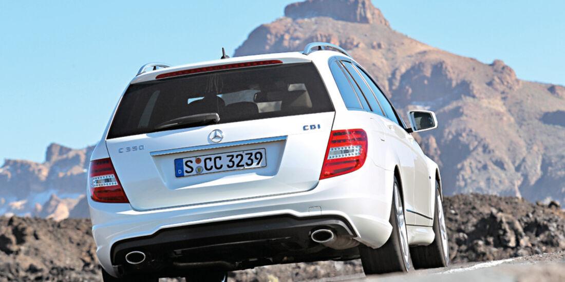 Mercedes C 200 T CDI, Heck