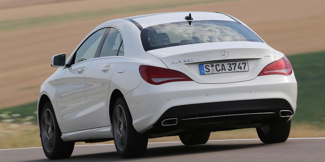 Mercedes CLA 220 CDI, Heckansicht