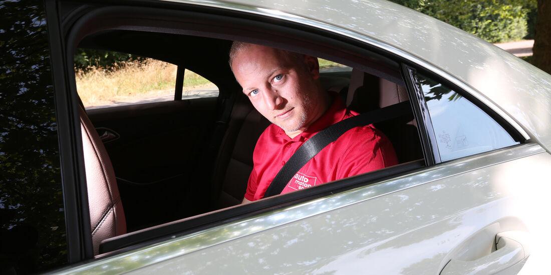 Mercedes CLA 220 CDI, Rücksitz, Kopffrieheit