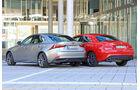 Mercedes CLA 250, Lexus IS 300h, Heckansicht