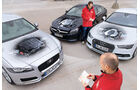 Mercedes CLS 400 4Matic, Audi A7 Sportback 3.0 TFSI Quattro, Jaguar XF 35t Prestige