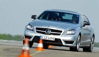 Mercedes CLS 63 AMG, Frontansicht, Slalom