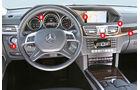 Mercedes E-Klasse, Cockpit, Lenkrad