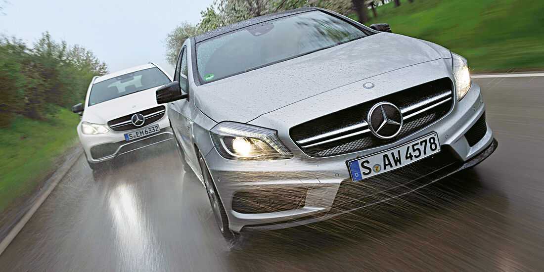 Mercedes E63 S AMG, A 45 AMG
