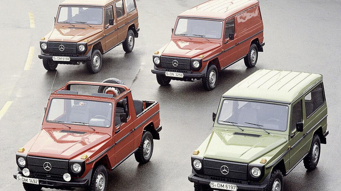 Mercedes, G-Modell, 4x Historisch