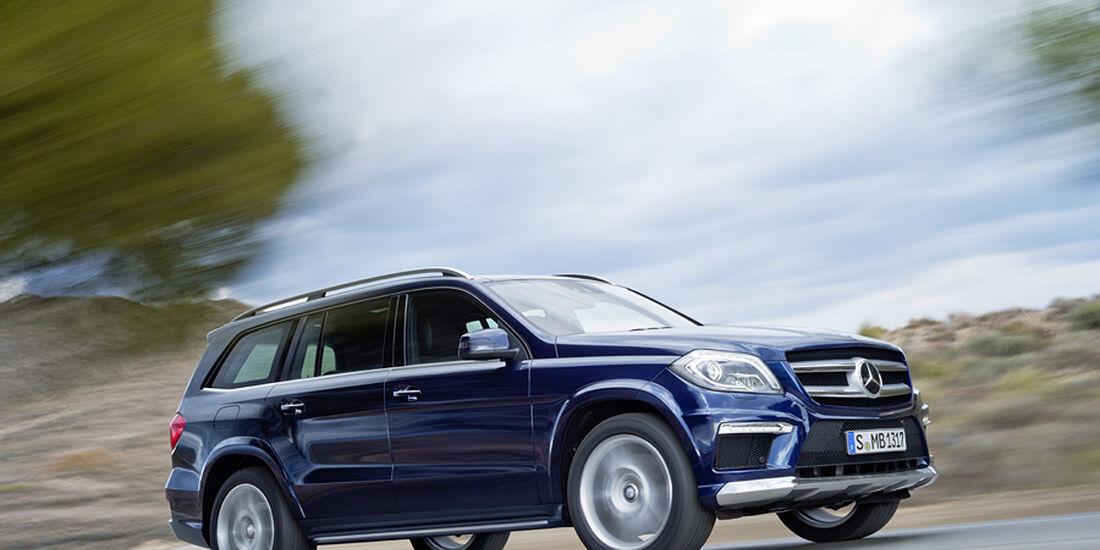 Mercedes GL 2012, Seitenansicht