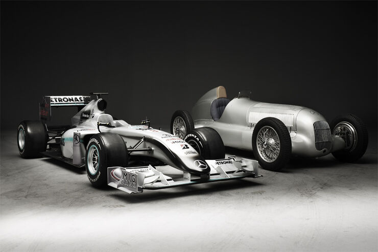 Mercedes GP W01 vs. W25