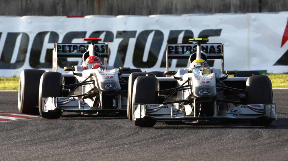Mercedes GP beim GP Japan