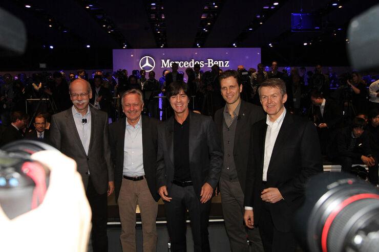 Mercedes Konzernabend Auto-Salon Genf 2012 Premiere A-Klasse Zetsche Bierhoff Jogi Löw