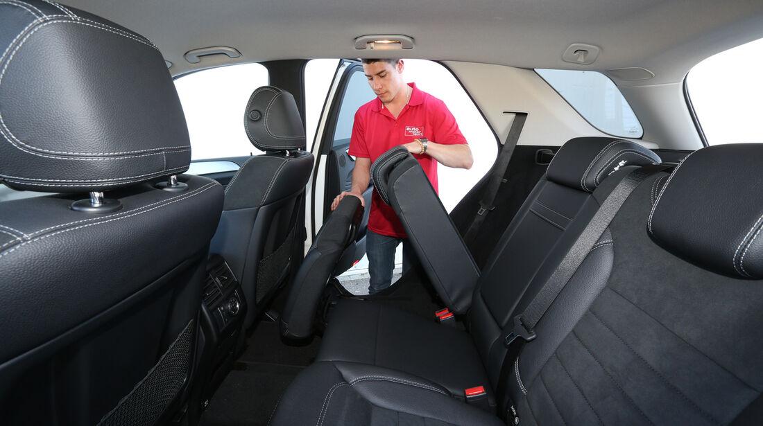 Mercedes ML 350 Bluetec, Rücksitz, Umklappen