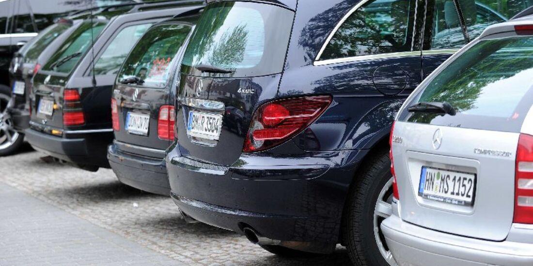 Mercedes-Modelle Heckansicht