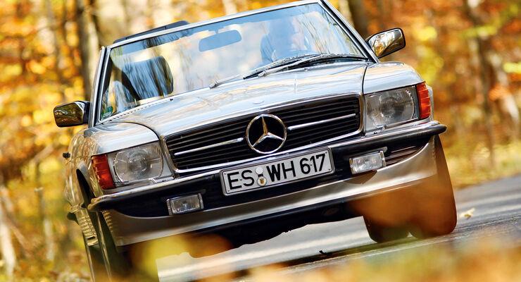 Mercedes R_107, Frontansicht