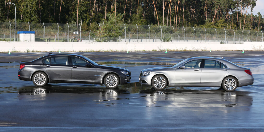 Mercedes S 500 L, BMW 750Li,Seitenansicht