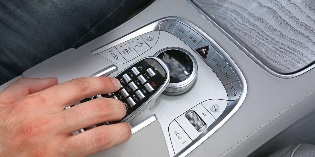 Mercedes S 500 L, Mittelkonsole
