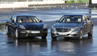 Mercedes S 500 L, Porsche Panamera Frontansicht