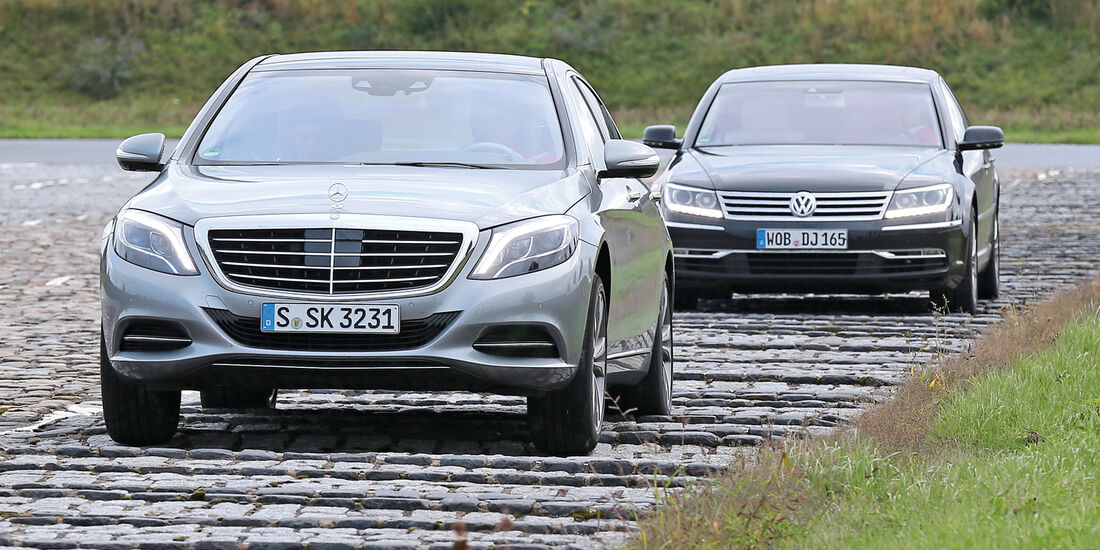 Mercedes S 500 L, VW Phaeton,Frontansicht