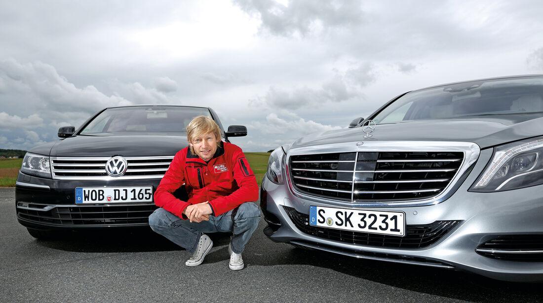 Mercedes S 500 L, VW Phaeton Frontansicht