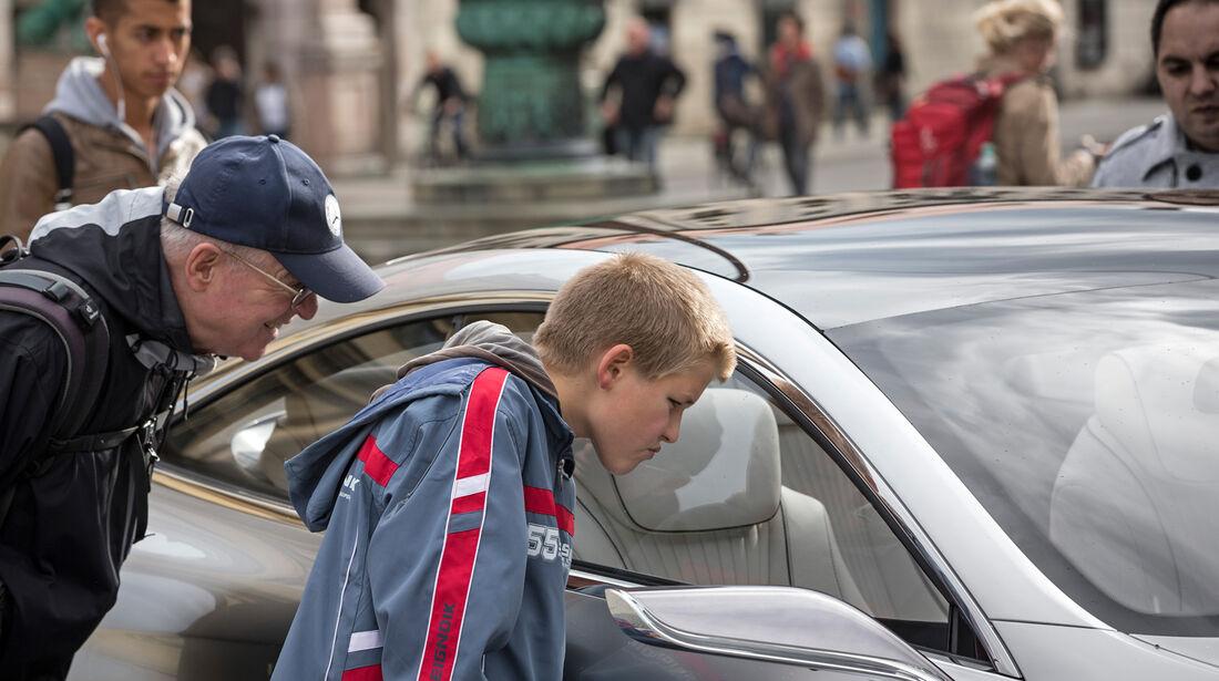 Mercedes S-Klasse Coupé Concept, Seitenlinie