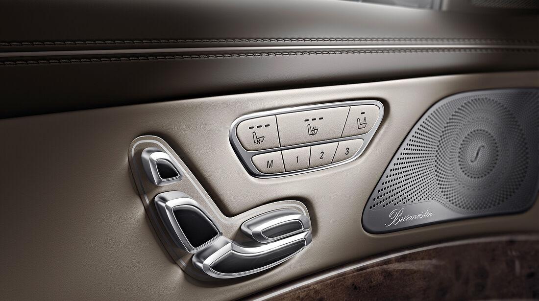Mercedes S-Klasse Interieur, Sitzeinstellung