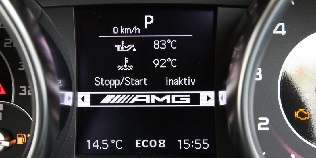 Mercedes SLK 55 AMG, Display, Anzeige