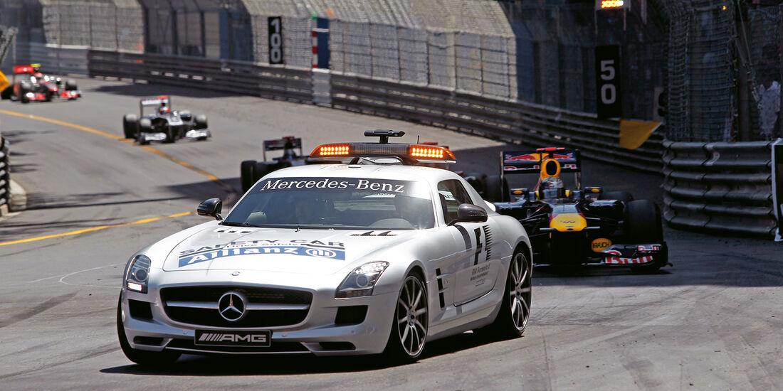 Mercedes SLS AMG GT3, Safety Car, Formel 1, Frontansicht