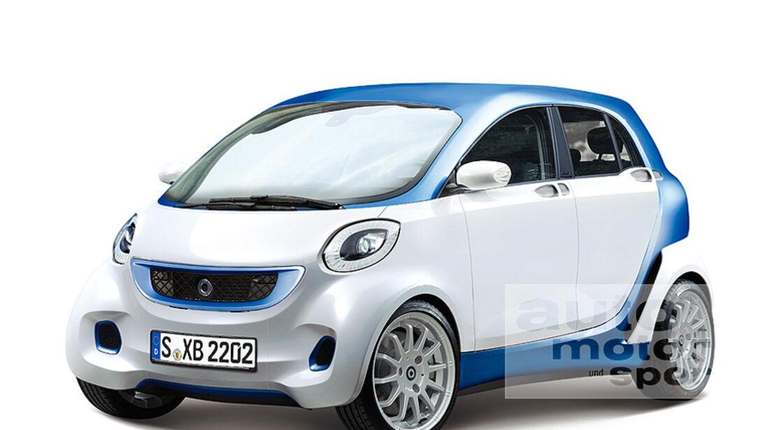 Mercedes Smart mit vier Türen