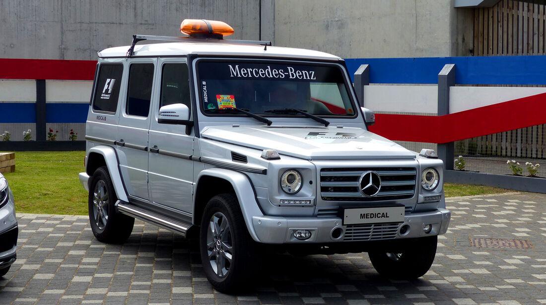 Mercedes-Streckensicherung - Formel 1 - GP England - Silverstone - 3. Juli 2014