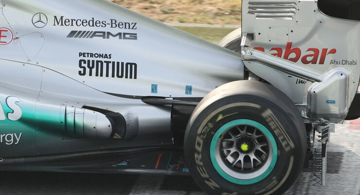 Mercedes Updates Magny Cours 2012