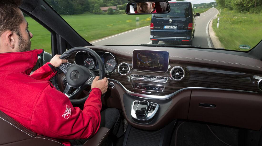 Mercedes V 250 Bluetec, VW Multivan 2.0 BiTDI BMT, Impression