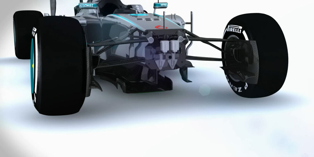 Mercedes W05 - Piola Technik-Video 2014