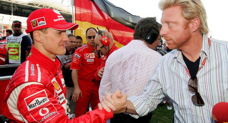 Michael Schumacher & Boris Becker