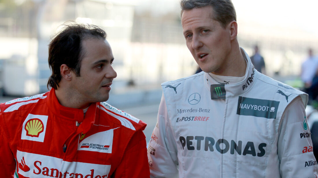 Michael Schumacher & Felipe Massa - F1-Test - Barcelona 2012
